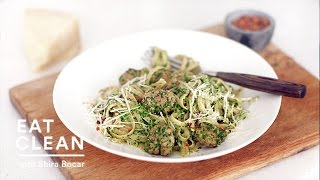 Broccoli Rabe Pesto With Whole Wheat Pasta And Sausage - Eat Clean With Shira Bocar