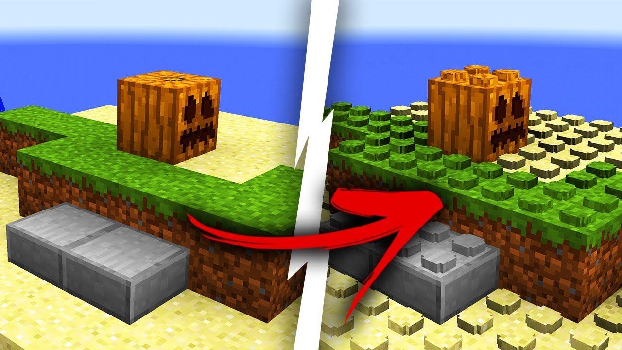 Minecraft Zamienia Się W Lego Youtube