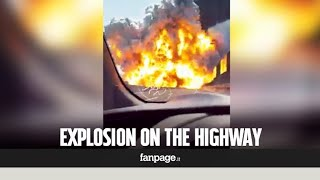 "Italy, explosion in Bologna. Fire over the highway: ""It looked like a bomb"""