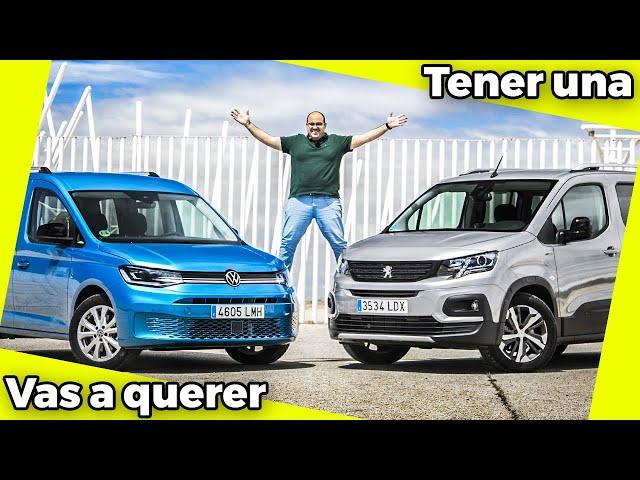 Volkswagen Caddy vs Peugeot Rifter; Comparativa