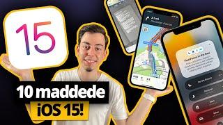 10 maddede iOS 15 özellikleri! - iPhone'un geleceği!