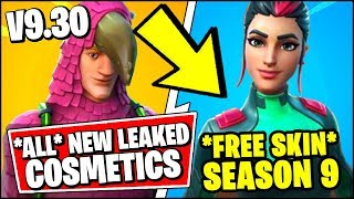*ALL* Fortnite v9.30 LEAKED SKINS & FREE BATTLE PASS SKIN LEAKED (SEASON 9 UTOPIA SKIN)