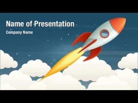 launching rocket powerpoint video template backgrounds, Presentation templates