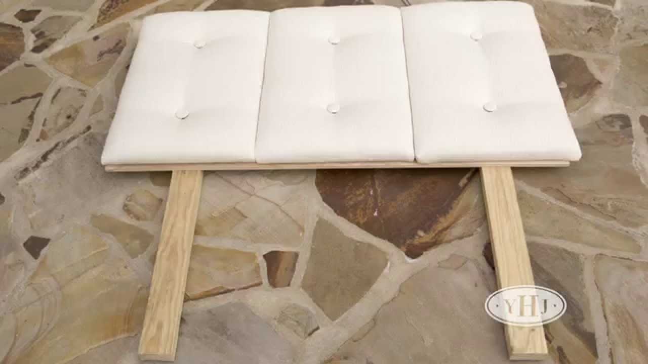 Make A Headboard how to make a headboard - youtube