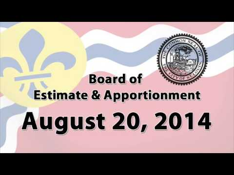 Board of Estimate and Apportionment   August 20 2014