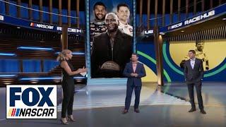 NASCAR Race Hub crew discuss Michael Jordan, Denny Hamlin and Bubba Wallace | NASCAR ON FOX