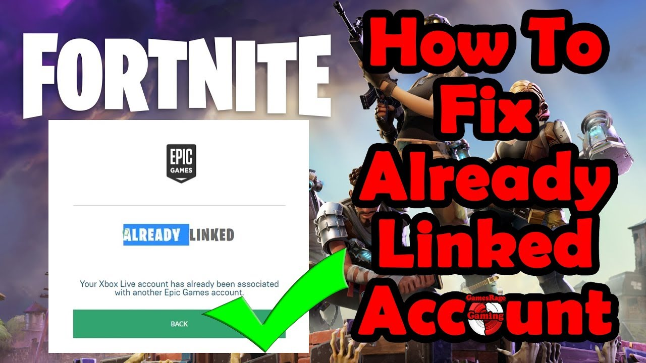 How To Fix FORTNITE Unable To Link Xbox/PS4 To Epic Games ...