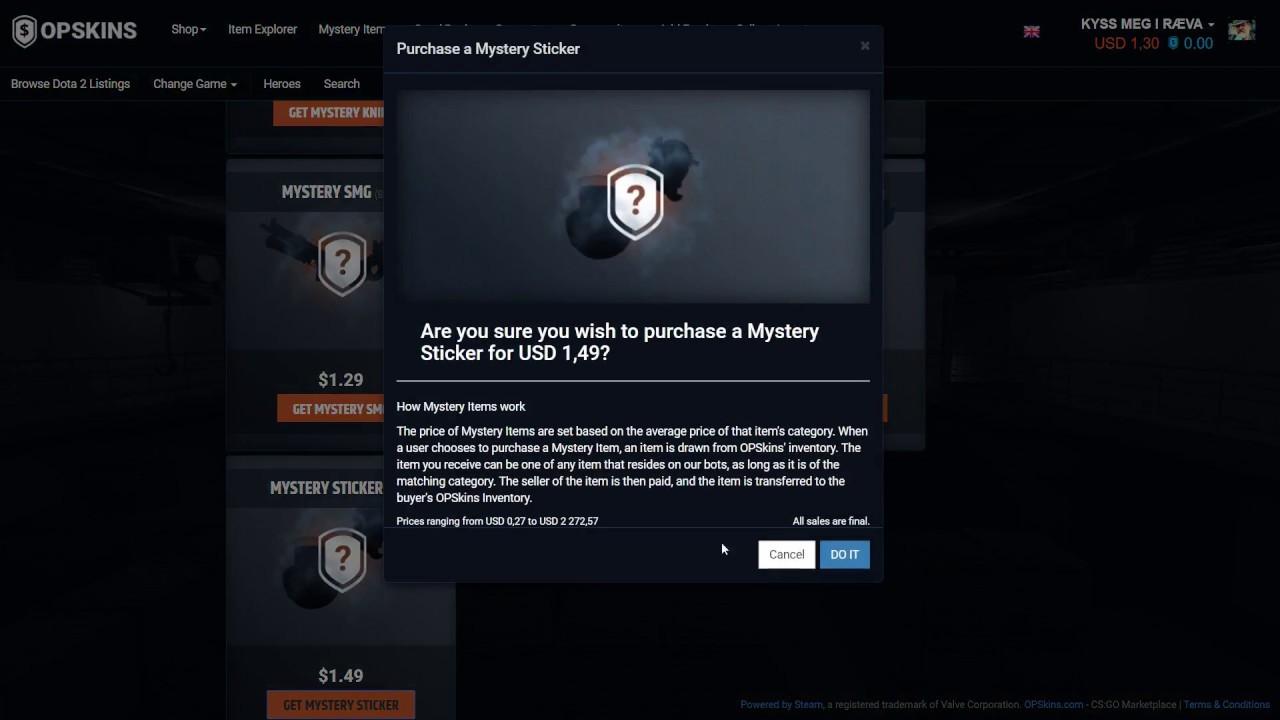 Opskins mystery items! (Profit)