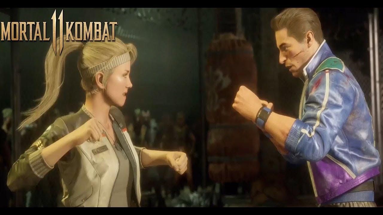 Mortal Kombat 11 Sonya Blade Fights Johnny Cage Mk11
