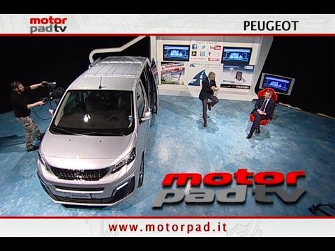 PEUGEOT TRAVELLER - Intervista 28/1/17 - MotorPad TV