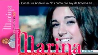 """Marina García Herrera-  Canal Sur Andalucía- Nos canta """"Yo soy de ti"""" tema en directo de Parrita"""