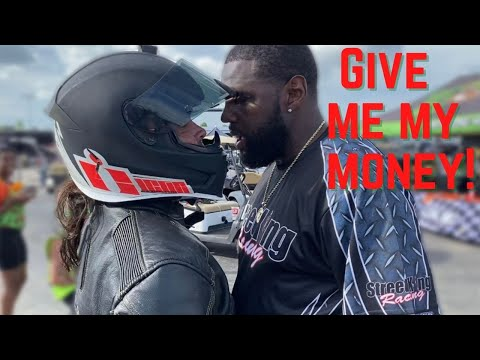 BIG FIGHT ERUPTS at CONTROVERSIAL MOTORCYCLE GRUDGE RACE!