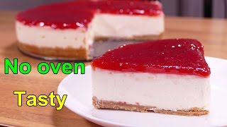 No bake cheesecake - easy dessert to make at home