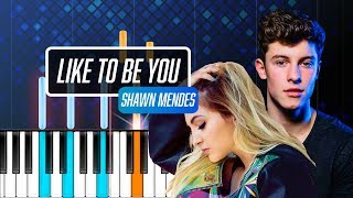 "Shawn Mendes - ""Like To Be You"" ft Julia Michaels Piano Tutorial - Chords - How To Play - Cover"