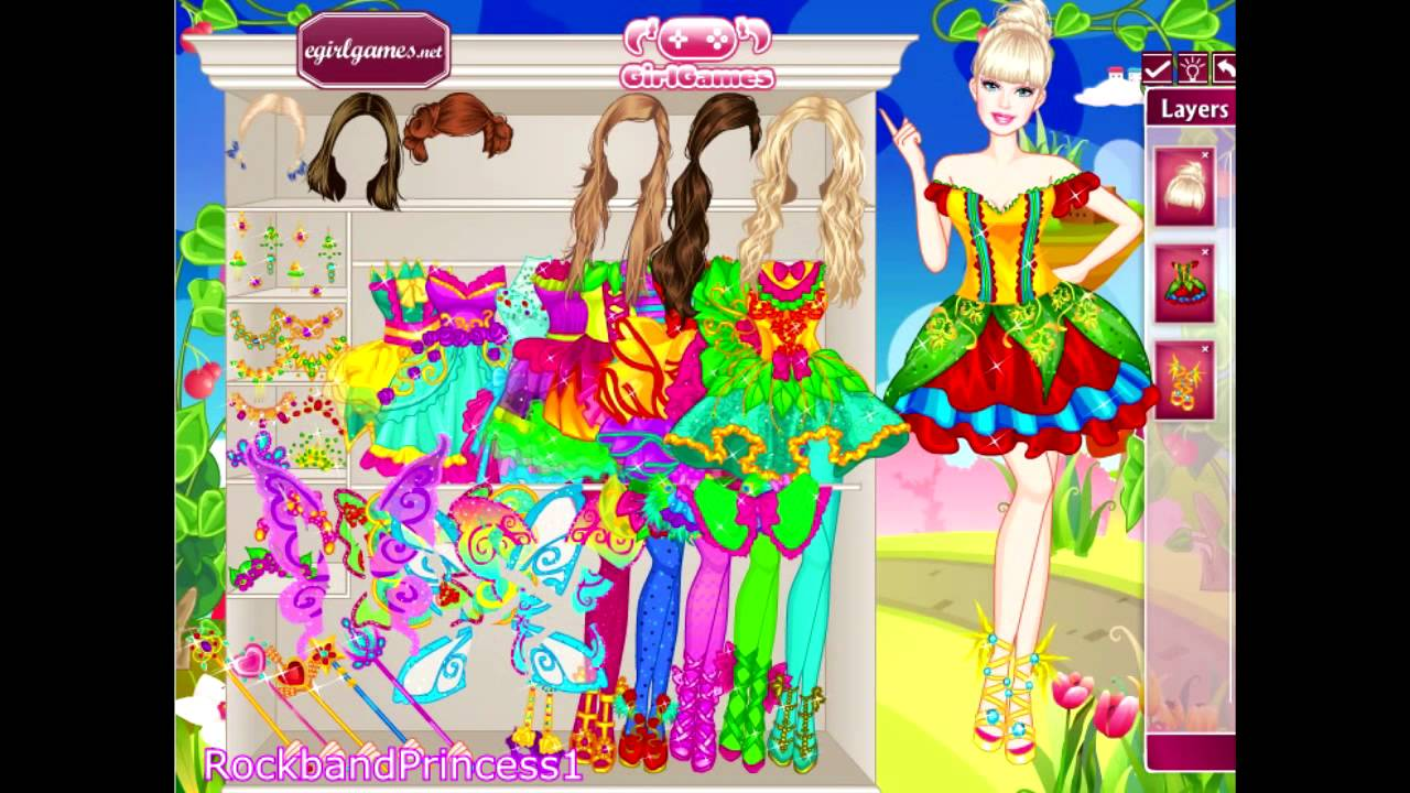 Dress up fairy games - Barbie Dressing Up Game Barbie Makeover Game Barbie Fairy Secret