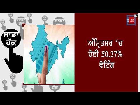 ਪੰਜਾਬ `ਚ 5 ਵਜੇ ਤੱਕ ਹੋਈ 53.61% ਵੋਟਿੰਗ