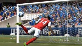 FIFA 12 Rabona then Scorpion Kick Goal | HD