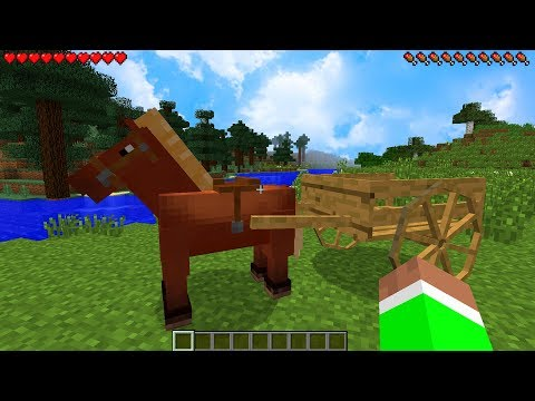 How to Get HORSE CARTS in Minecraft...