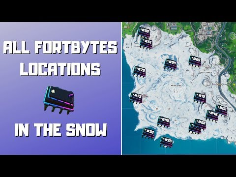All Fortbyte Locations In The Snow Biome! How To Collect All Fortbytes In Snow! - Fortbytes Season 9