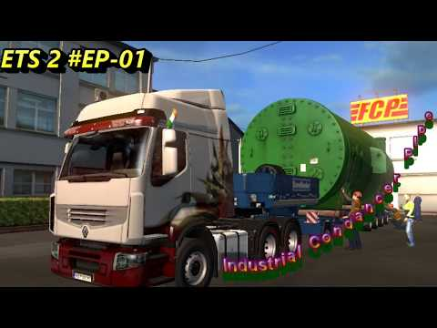 Euro Truck Simulation 2 #EP-01 Europe Country || Industrial Condenser Pipe Job || From FCP ||
