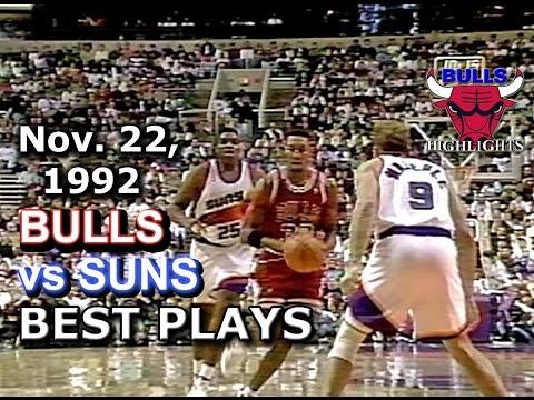 November 22 1992 Bulls vs Suns highlights