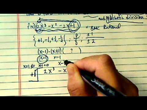 ^*How to find rational zeros?? ( F(x)=2x^3-x^2-2x+1 ...