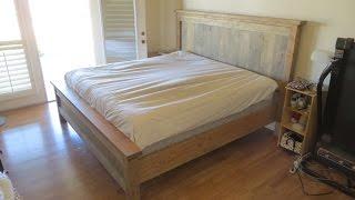 Farmhouse Style Kingsize Bed