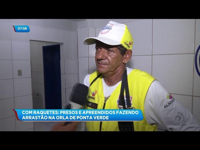 Cincos pessoas foram detidas suspeitas de cometerem arrastão na orla de Ponta Verde