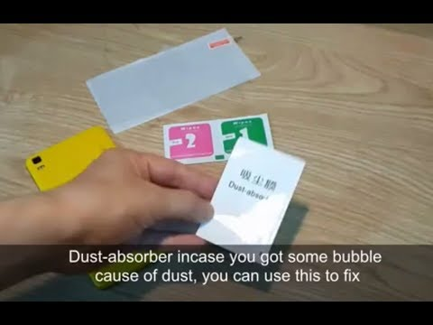 How to put tempered glass screen protector on your 5.5 inches smart phone