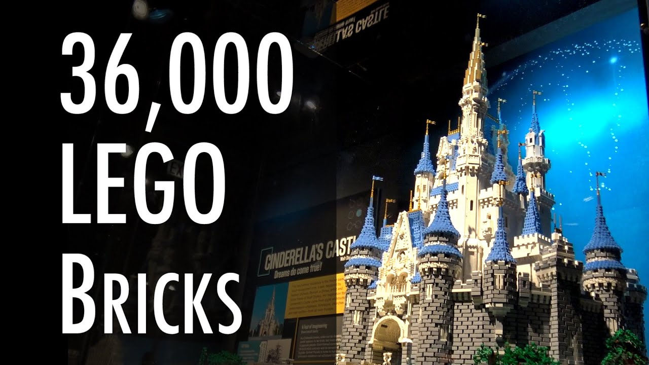 lego disney cinderella castle museum of science and industry youtube