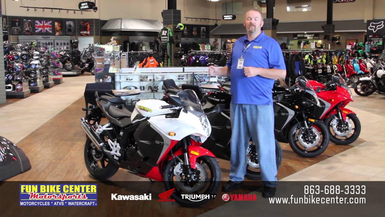 Hyosung GT250R at Fun Bike Center Motorsports Lakeland - YouTube