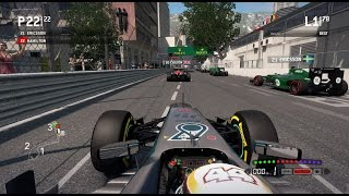 F1 2013 Gameplay Monaco 100% Race Lewis Hamilton