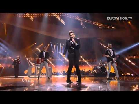 Epic foot shuffeling Malta 2012 Eurovision