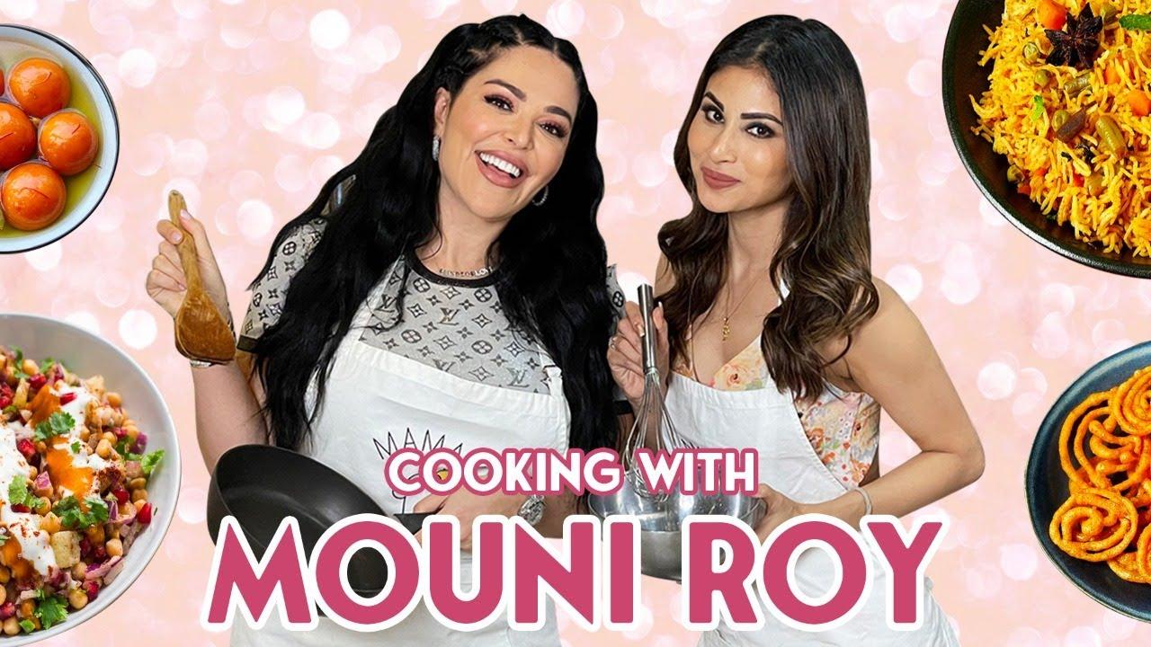 Cooking Delicious Indian Food with Beautiful Bollywood Actress Mouni Roy | Mona Kattan