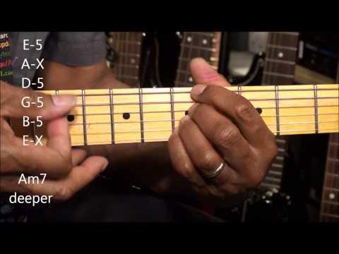 Guitar Chord Form Tutorial #217 Funk R&B Chord Shapes TABS EricBlackmonMusicHD