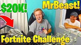 MrBeast Donates to Tfue in Real Life! Fortnite Money Challenge! (He Won!)
