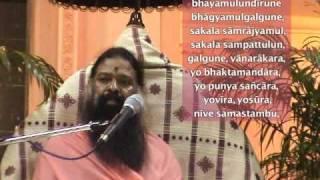Anjaneya Dandakam sung by Sri Ganapati Sachchidananda Swamiji