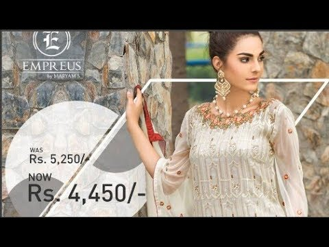 72a4d78d88 Latest Empereus Chiffon By Maryam's Vol 3 Collection 2017 - YouTube