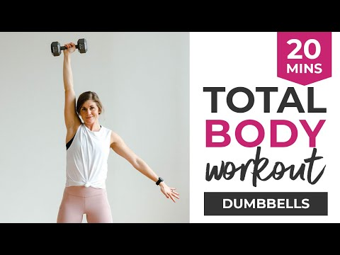 20-Minute Workout Video: Total Body Strength + Calorie BURN With Dumbbells