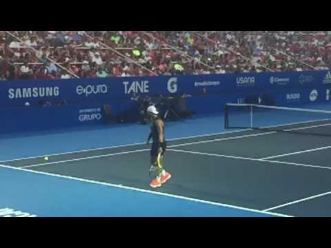Rafael Nadal Serve in Acapulco Open 2017