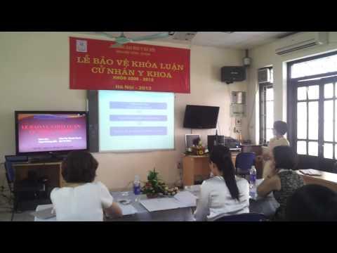 Lễ bảo vệ khóa luận cử nhân Ykhoa - Thái Thị Thanh Huyền.mp4