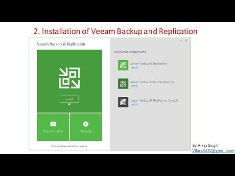 Veeam Advance Training | 2 - Installation of Veeam Backup
