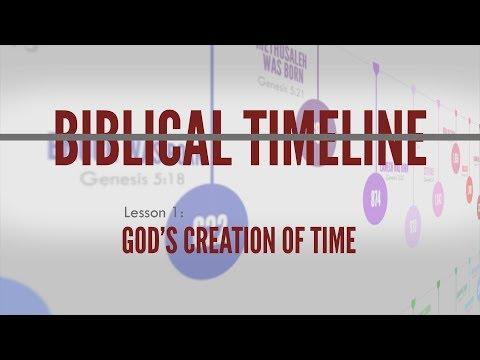 1. God's Creation Of Time   Biblical Timeline