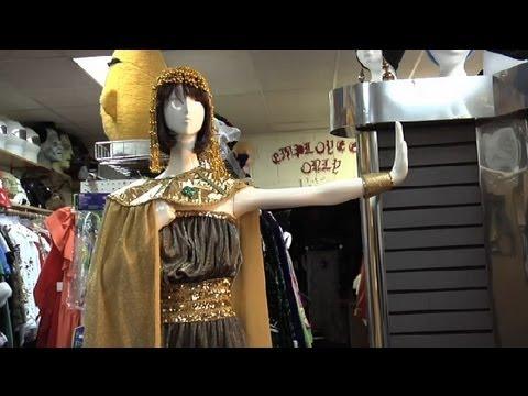 Easy Cleopatra Costume Homemade Halloween Costume Ideas Youtube