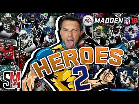 MUT Heros Promo 2! 32 New Cards & Free 96 Overall Boss Card! Madden NFL 18
