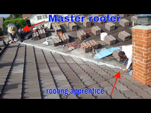 The best roofer: installing a Tile roof simple and beautiful , roofing tiles, concrete roofing tiles