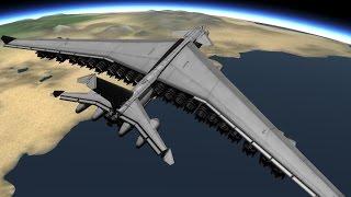 KSP. Огромный космолет. Huge space plane