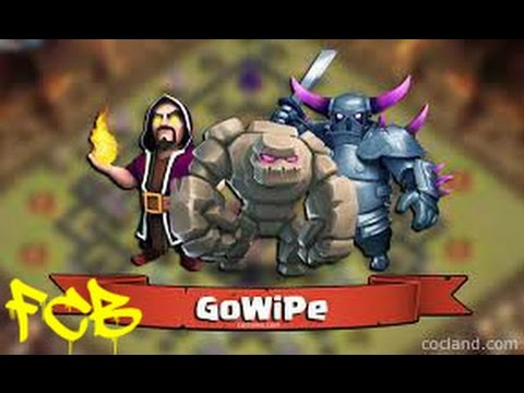 Clash of Clans | TH8 GoWiPe Golem Wizard Pekka war attack 3 star compilation
