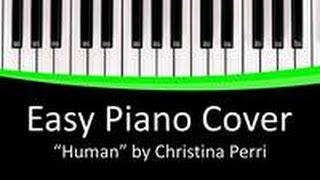 Human | Christina Perri | Piano Cover EASY | FREE DOWNLOAD