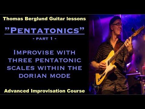 "Pentatonics ""3 pentatonic scales in the dorian mode"" / Advanced Improvisation // Guitar lesson"